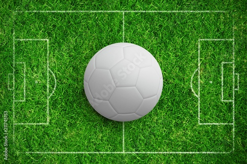 Composite image of digitally generated white leather football