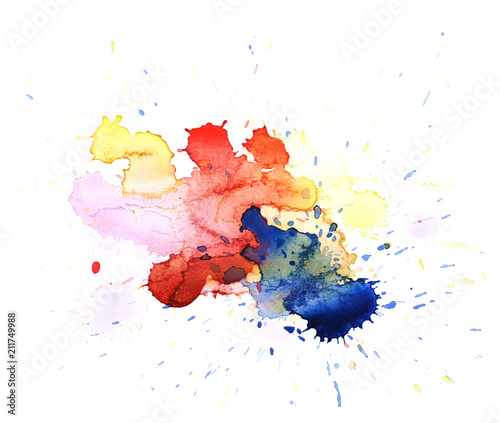Watercolor drop stain isolated