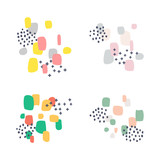 set of abstract design elements on white background - 211752725