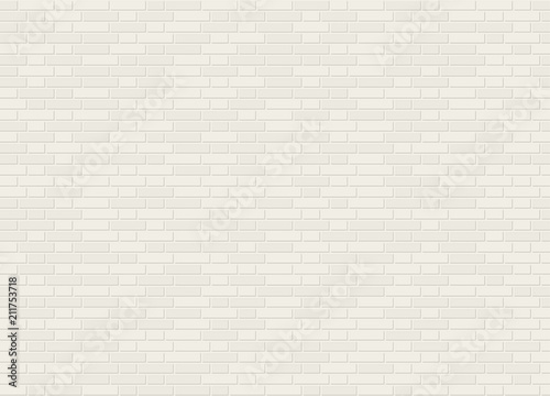 Fototapeta Vector seamless monk cross bond white brick wall texture