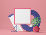 Poster frame Mockup. 3d illustration