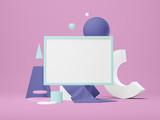 Poster frame Mockup. 3d illustration