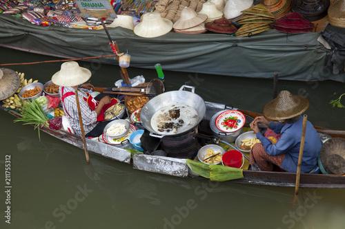 Plexiglas Bangkok floating market in bangkok