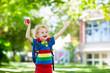 Leinwanddruck Bild - Child going back to school, year start
