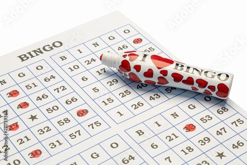 I love Bingo pen and card