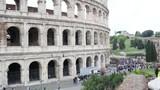 Rome Colosseum - Coliseum camera glide movement antique architecture - 211761100