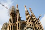 Basílica modernista Sagrada Familia de Gaudí en Barcelona en construcción - 211763139