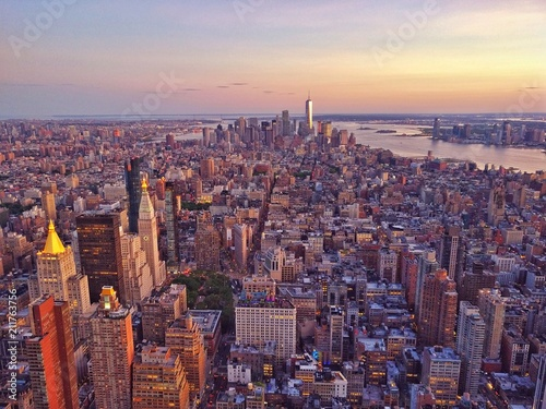 aerial lower Manhattan