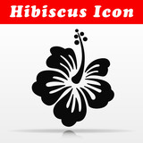 hibiscus flower vector icon design
