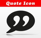 black quote vector icon design