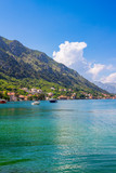 Adriatic sea coastline, boka-kotor bay near the city Kotor, Mediterranean summer seascape, nature landscape, vacations in the summer paradise - 211765158