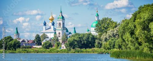 Lake Nero and monastery of St Jacob Savior, Rostov, Golden ring Russia - 211768399