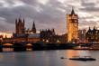 Big Ben e Parlamento em Obras com Rio Tamisa