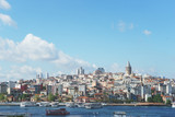 Panoramic view of Istanbul from the Bosphorus Strait. - 211780702