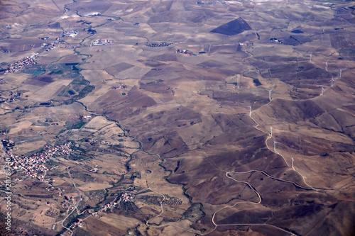 Fotobehang Lavendel sicily catania etna volcano aerial view
