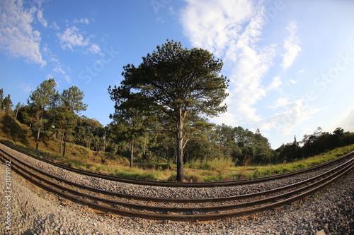 Aluminium Spoorlijn Linha de trem
