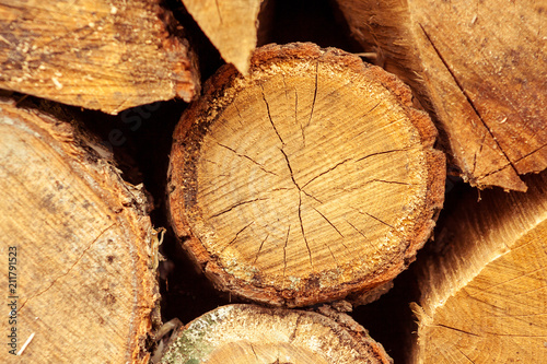 Stacked tree trunks detail. Finland lumber industry. Nature background - 211791523