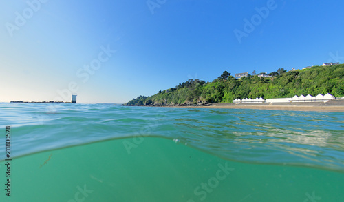 Fotobehang Tropical strand plage d'étable sur mer - cotes d'armor