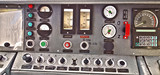 Locomotive control panel, cockpit