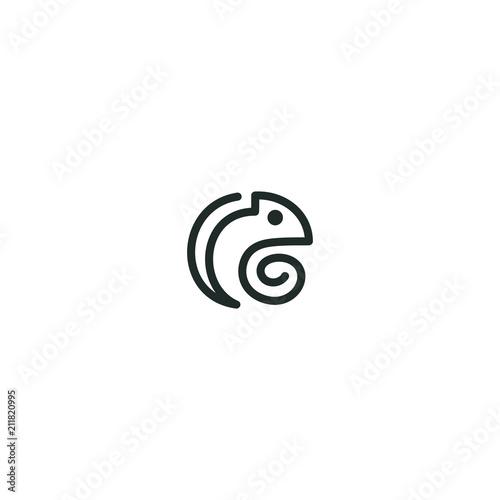 kameleon design outline logo abstract modern download