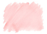 Pink watercolor background with a pronounced texture of paper for decorating design products and printing. - 211829309