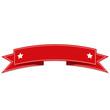 Red flat ribbon illustration