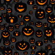 Abstract seamless pumpkin pattern for girls,boy, kids, halloween, clothes. Creative vector halloween pattern with pumpkin scary face, smile. Funny pumpkin pattern for textile and fabric. Fashion style - 211847134