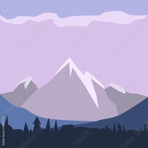 Aluminium Purper Isolated landscape image