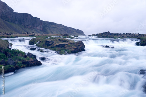 Aluminium Bergrivier Long time exposure on the river in Iceland