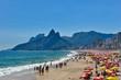 Quadro Sunny Day in Crowded Ipanema Beach in Rio de Janeiro