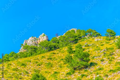 Aluminium Oranje Mountain peaks at the Parque Natural de Levante