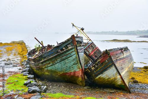 Fotobehang Schip Scottish wreck