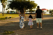 A beautiful Family going to the park in Palmas Tocantins, Brazilian family