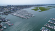 Wildwood New Jersey Marina Aerial Drone View