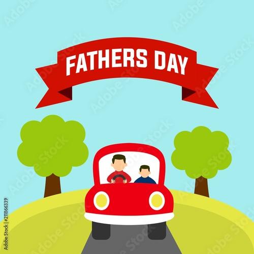 Plexiglas Auto Father's day illustration