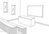 University interior graphic classroom black white sketch illustration vector  - 211879944