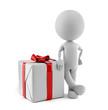 Großes Geschenk mit roter Schleife