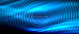 Fototapety Neon glowing lines, magic energy space light concept, abstract background wallpaper design