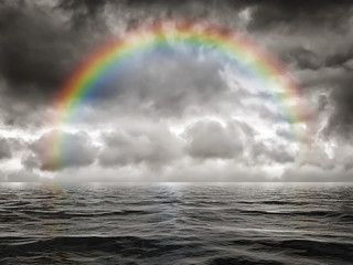 rainbow at the ocean