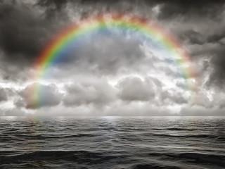 rainbow at the ocean © magann