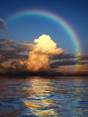 rainbow over the ocean © magann