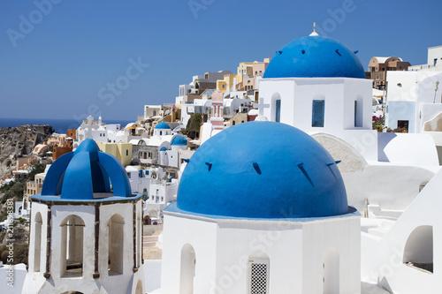 Fotobehang Santorini Santorini's Blue dome