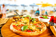 summer photo of pizza  - 211899106