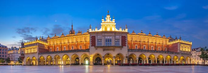 Sukiennice  by night,Main Market Square,Krakow, Poland © Mike Mareen