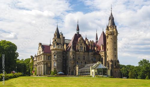 castle in Moszna, near Opole, Silesia, Poland - 211900302