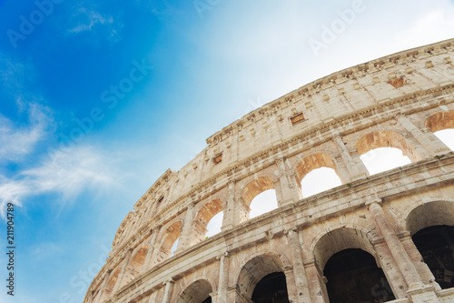 Colosseum, or Coliseum in the centre of the city of Rome, Italy. - 211904789