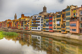 Colorful houses in Girona, Spain