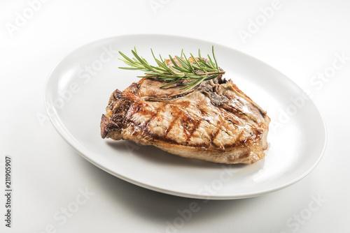 Aluminium Steakhouse Grilled t-bone chop of pork