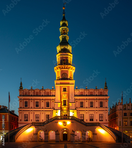 Poland, Zamosc: Great Market Square - Town Hall
