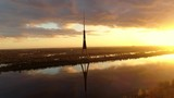 Riga radio and TV tower, tallest tower in European Union - 211910111